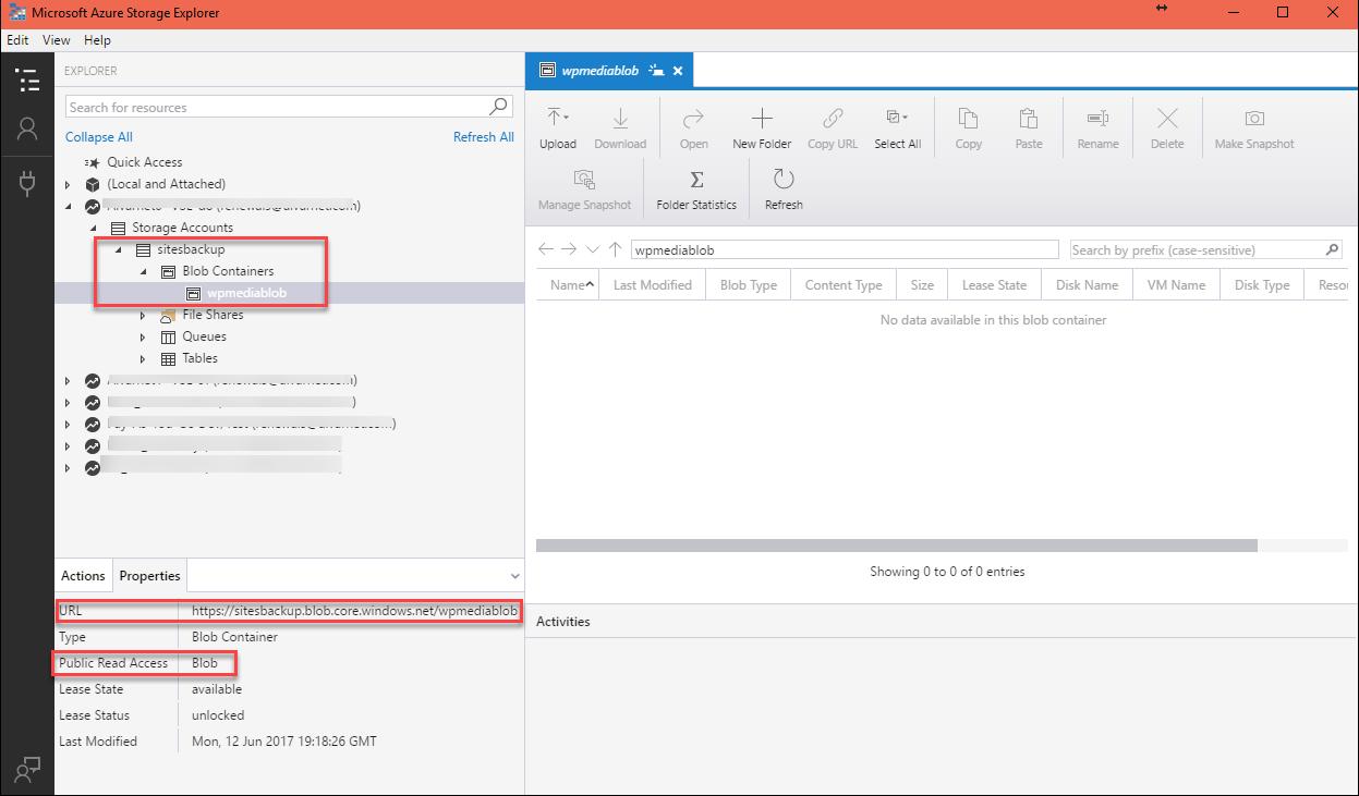 Part 2: Setup Azure Blob Storage to work with WordPress