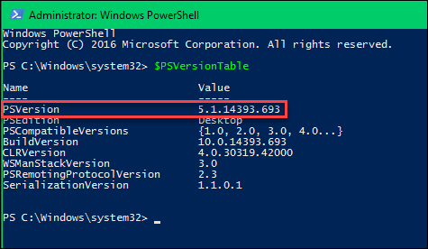 Installing PowerShell 5 1 via WMF 5 1 | Arlan Blogs