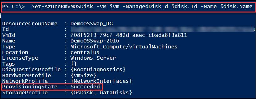 Swap the OS Disk of an Azure VM – PowerShell   Arlan Blogs