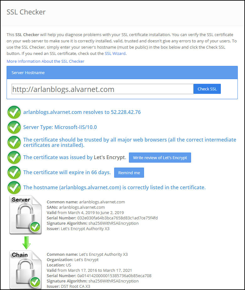 SSL Verification Tools for Azure Web Apps | Arlan Blogs