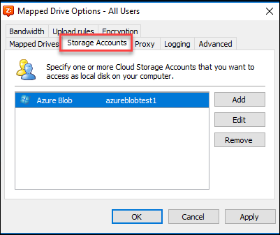 Use CloudBerry Drive to create a local mapped network drive