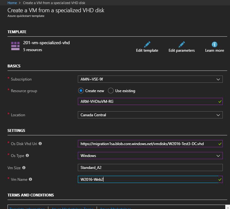 Move an on-Prem Hyper-V VM to Azure (specialized VHD