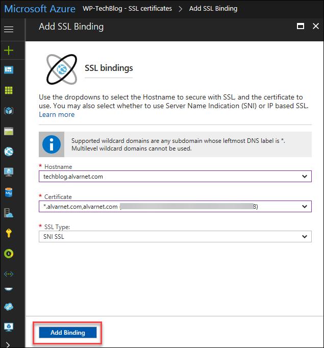 Create An Azure Wordpress Website Part 3 Add An Ssl Certificate