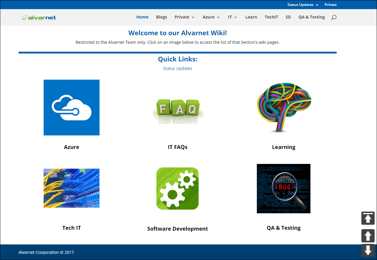 Setup Plan for an Azure hosted WordPress Page-centric Private ...