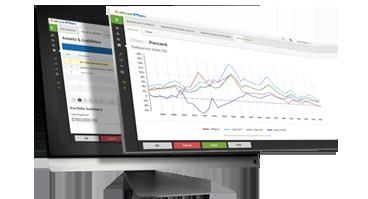 Monitors displaying alverPlan